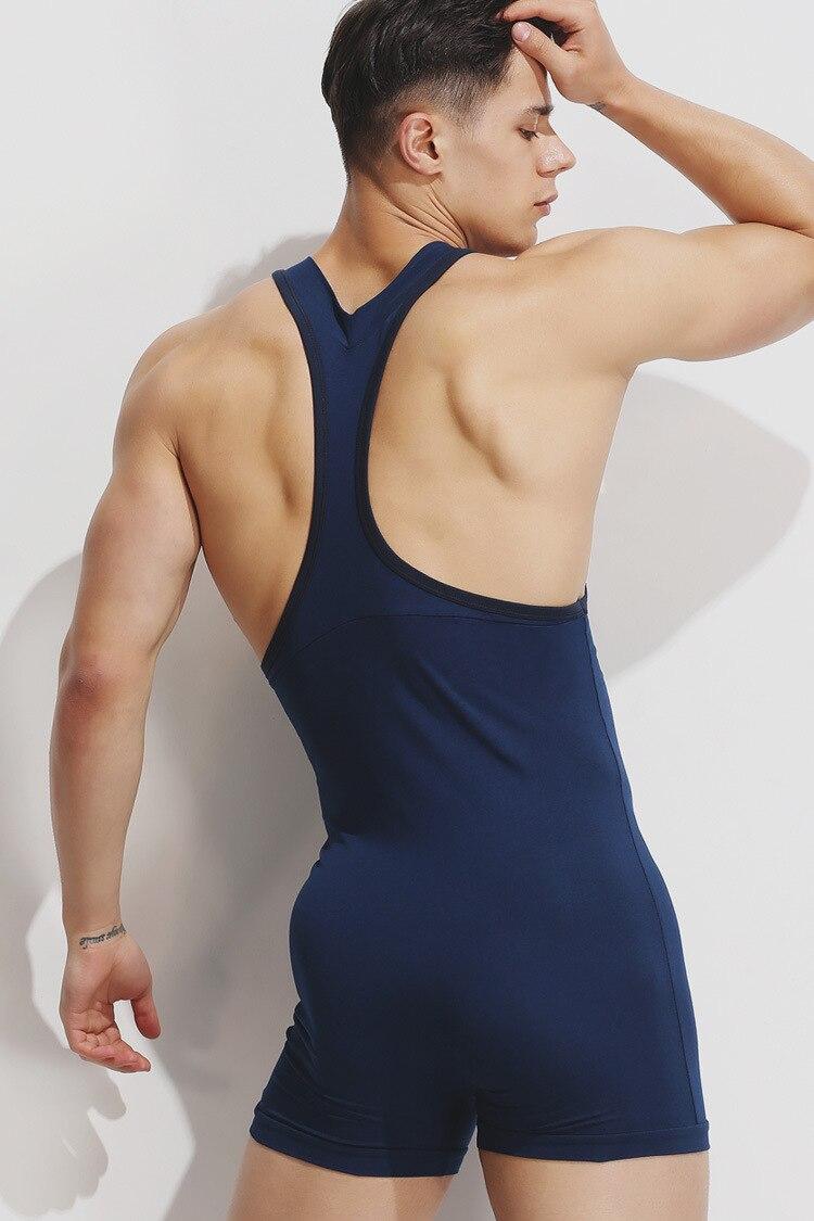 17140be7dc Προϊόν - Sexy Summer onesie men pajamas Bodysuit pure Cotton Quality onesies  for adults Singlet male underwear indoorwear Pajamas men