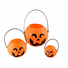 1pc Mini Halloween Festival Lantern Pumpkin Candy Jar Kids Trick Treat Sweet Candy Carry Holder Jar