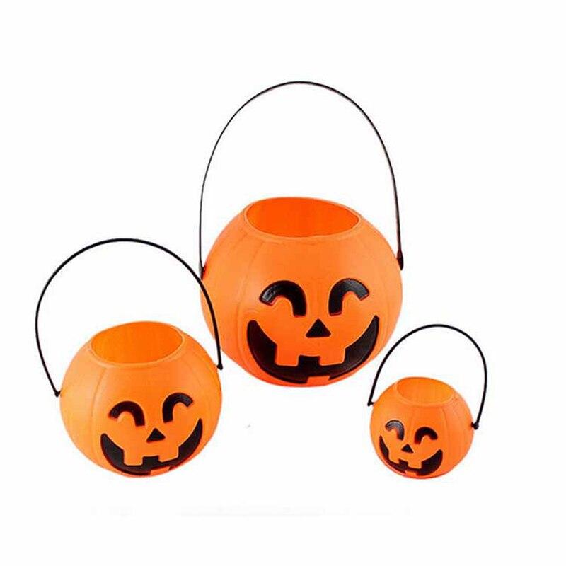 1pc font b Mini b font Halloween Festival Lantern Pumpkin Candy Jar Kids Trick Treat Sweet