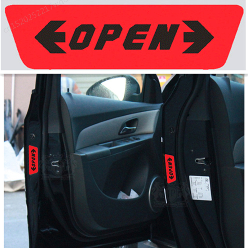 4pcs/set Car <font><b>styling</b></font> Door Open Warning Stickers For <font><b>Volvo</b></font> S40 S60 S70 S80 S90 V40 <font><b>V50</b></font> V60 V90 XC60 XC70 XC90 image