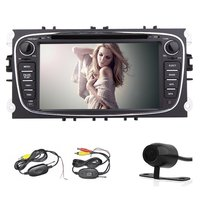 Free Wireless Rear Camera 2din In Dash 7 Inch HDCar GPS Navigation DVD Player Stereo Audio