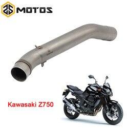 ZS MOTOS tłumik wydechowy motocykla dla Kawasaki Z750/Z750R 2007-2012 bez spalin