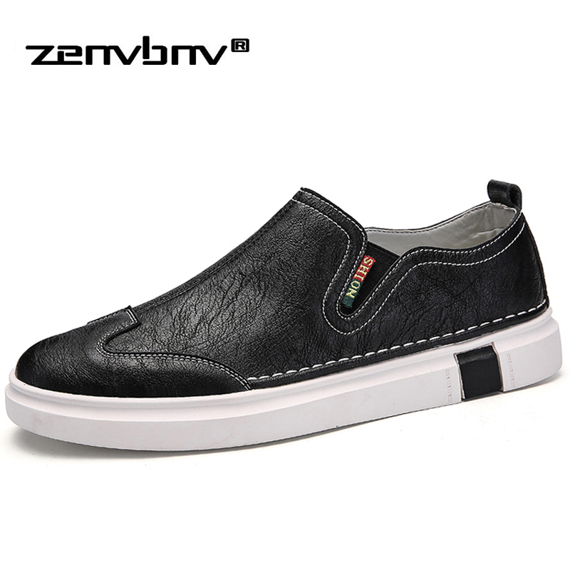 ZENVBNV New High Quality Men Casual Shoes Spring Summer PU Leather Breathable Sneakers Shoes for Men Flat Loafers Zapatos Hombre 2017 new arrival spring men casual shoes mens trainers breathable mesh shoes male hombre hip hop street shoes high quality