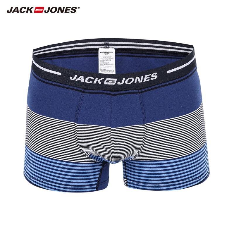 JackJones hombres a rayas de algodón boxeador tronco boxeador de los hombres pantalones cortos de los hombres ropa interior 2019 nueva marca de Ropa   21817G516