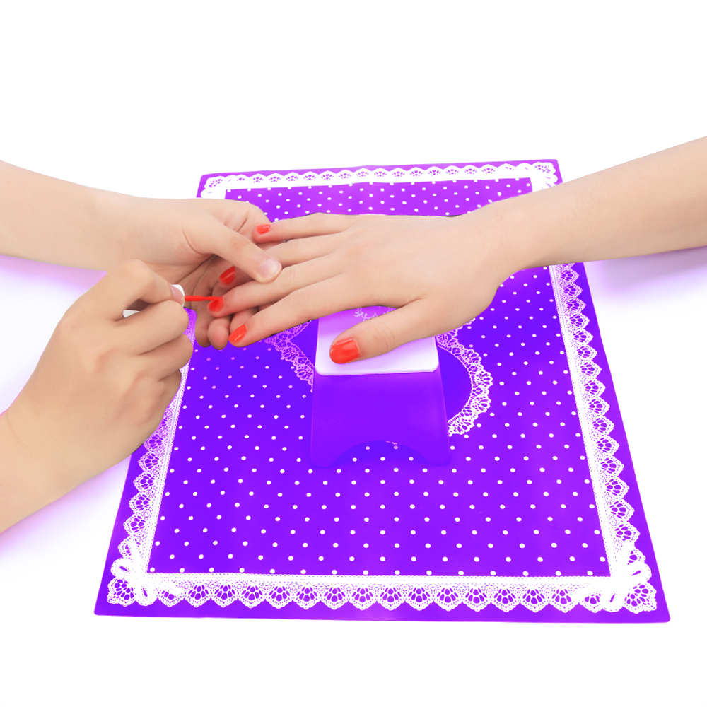 Schönheit & Gesundheit Silikon Nagel Kunst Färbung Druck Weichen Matte Stanzen Platte Transfer Matte Blatt Maniküre Tisch Hand Ruht Arbeit Raum Transluzenten Handauflagen