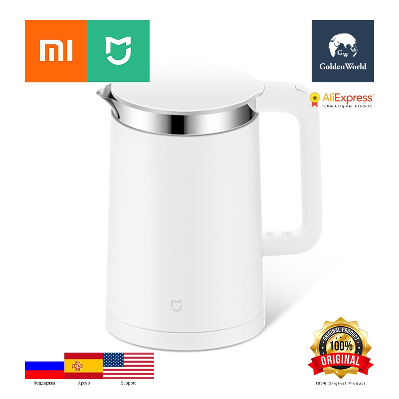 Xiaomi Original Mijia Mi Electric Water Kettle 1.5L with Constant Temperature Control 304 Stainless Steel kettle thermostat temperature control switch electric kettle accessory replaceme