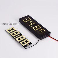 자동차 led 도트 매트릭스 시계 온도 전압 표시 4.0 ~ 25 v 다기능 3in1 시간 온도계 전압계