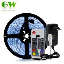 5050 RGB LED Strips DC12V 5M 300 LEDs Fleixble Neon Lamp 17Keys RF Remote Controller 12V