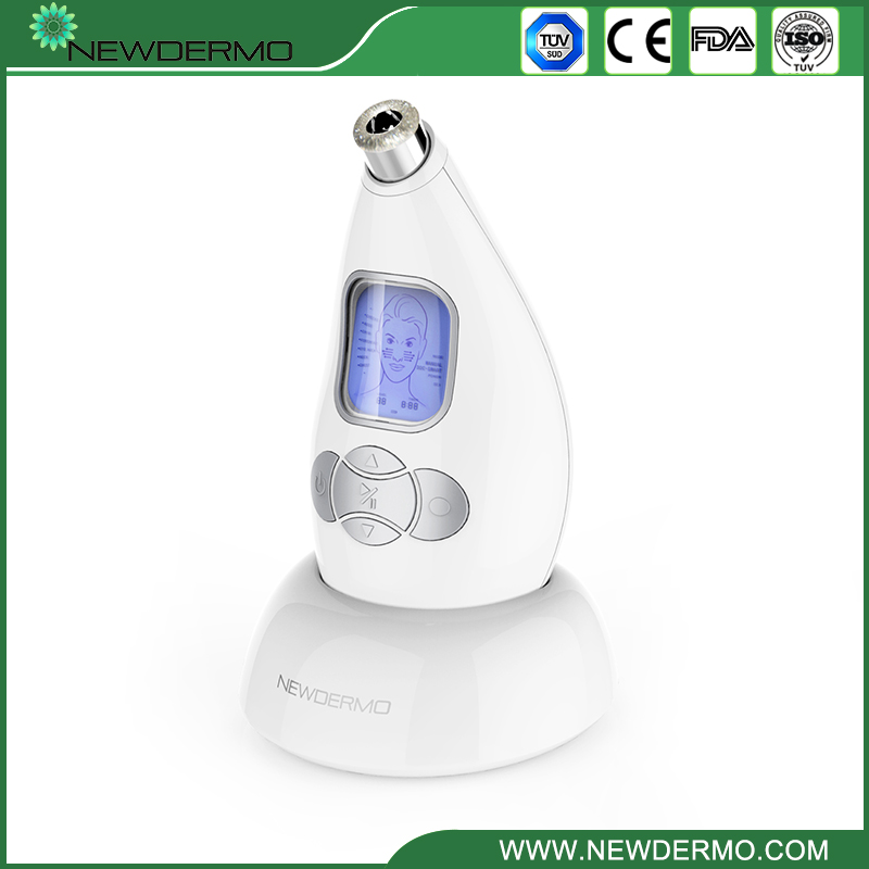 Blackhead removal machine newdermo diamond microdermoabrasion silver 2 heads 2015 new best personal dead blackhead removal diamond microdermobrasion machine