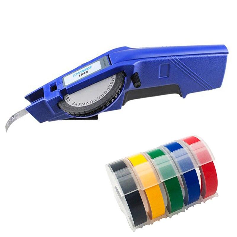 Dymo 1540 3D gaufrage manuel fabricant d'étiquettes 1540 imprimantes d'étiquettes manuelles pour 12mm bandes d'étiquettes en plastique main facile à bricolage étiquette