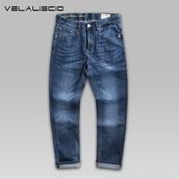 VELALISCIO 2017 Spring New Slim Jeans Big Size Men Trend Fashion Leisure Stretch Trousers Tide Brand