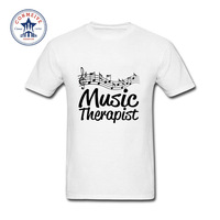 2017 Hot High Quality Cotton Music Therapist Music Notes Score T Shirt For Men