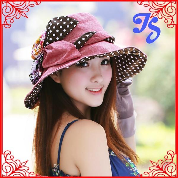 Mujeres sombrero del cubo del verano con la flor exterior hunting cap pesca plegable de ala ancha Floppy Beach Caps Boonie Sunbonnet Chapeau