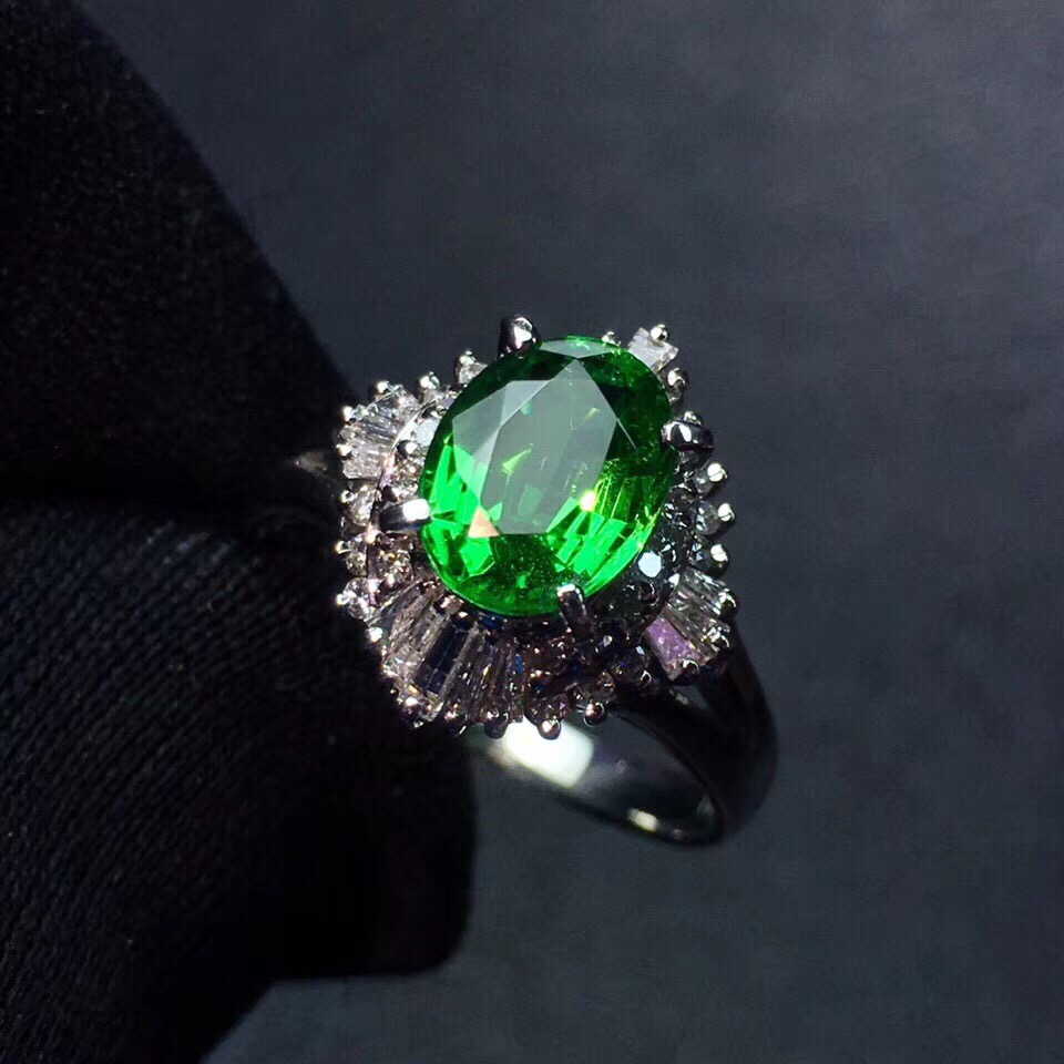 Tsavorite Ring Fine Jewelry Real 18 K Gold Jewelry Natural Unheat 1.78ct Tsavorite Gemstones Tsavorites Female Wedding RingsTsavorite Ring Fine Jewelry Real 18 K Gold Jewelry Natural Unheat 1.78ct Tsavorite Gemstones Tsavorites Female Wedding Rings