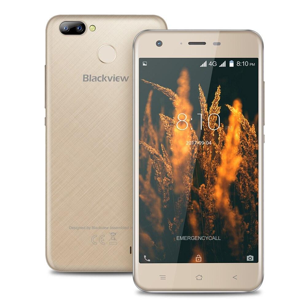 Blackview A7 Pro 4 г смартфон 5.0 дюймов Android 7.0 mtk6737 4 ядра 1.3 ГГц 2 ГБ Оперативная память 16 ГБ Встроенная память 8.0mp двойной сзади Камера отпечатков пальцев