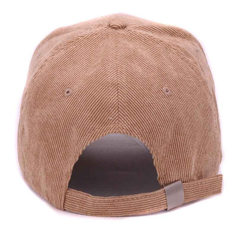 HATLANDER 品質コーデュロイ生地ベースボールキャップ小刺繍 fk ポップ帽子男性と女性