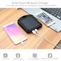 6000 mAh Solar Power Bank Dual USB Banco de Potência Portátil Carregador de Bateria Externa com Luz LED HOT
