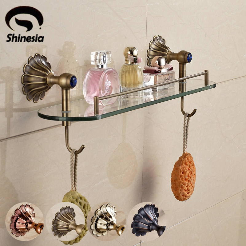 ФОТО New Style Solid Brass Bathroom Towel Hook Towel Shelf Holder Bathroom Accessory Wall Mounted