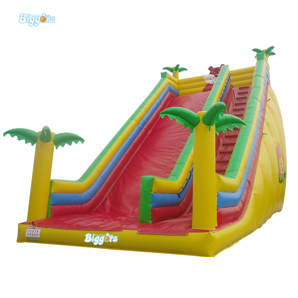 Sea Shipping 7x4x4.5m Inflatable Tropical Water Slide Bounce Water Slide With Blowers sea shipping tropical inflatable climbing bounce house water slide pool commercial water slide with pool for kids