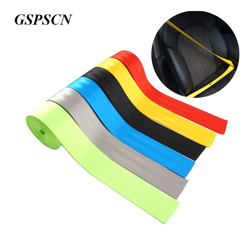 >GSPSCN 3M/5M <font><b>Seat</b></font> Belt Webbing Strap Thicken <font><b>Car</b></font> <font><b>Seat</b></font> Belt Harness Backpack Belt Fashion Color Ribbon European standard