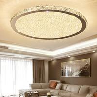 Led потолочный светильник хрустальный простой современный круглый спальня свет