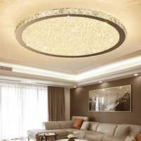 Luz led de techo de cristal simple moderna luz redonda para dormitorio