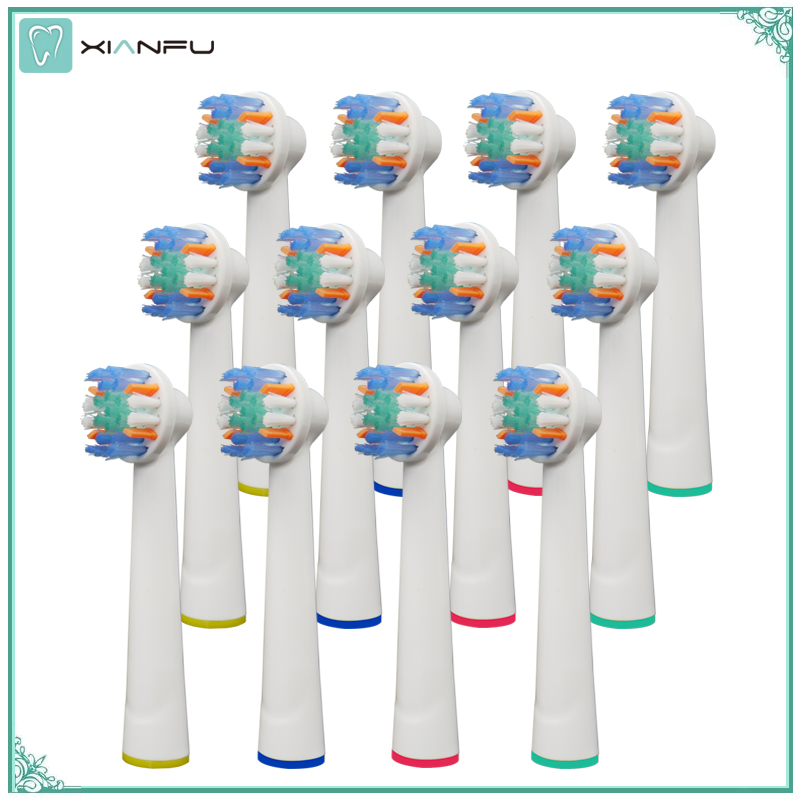 12PCS Electric Toothbrush Replacement Brush Heads Refill Oral b Pro 1000 Pro 3000 Pro 5000 Pro 7000 Vitality Floss Action heads womanizer pro