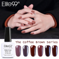 Elite99 1pc UV Nail Gel Long Lasting 12 Coffee Brown Series Gel Lacquer DIY Nail Art Colorful Nail Gel UV LED Lamp Curing 10ml