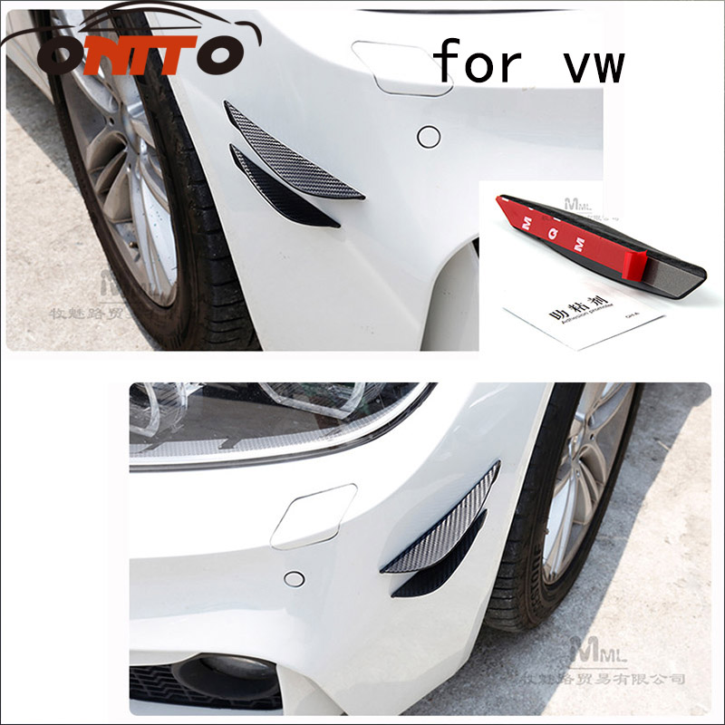 2pcs modified car carbon fiber spoiler air knife decorative items for Passat B6 B7 CC Go ...