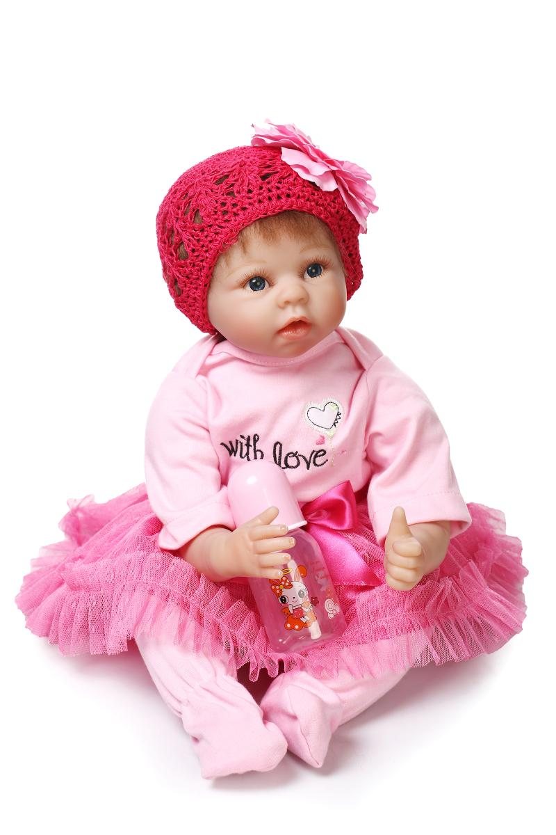 22inch 55cm Silicone baby reborn dolls, lifelike doll reborn babies toys for girl pink princess gift brinquedos for kids22inch 55cm Silicone baby reborn dolls, lifelike doll reborn babies toys for girl pink princess gift brinquedos for kids