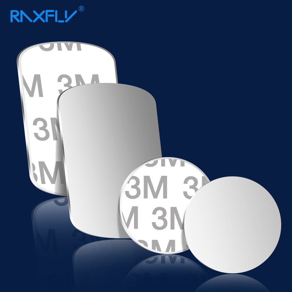 RAXFLY Magnetic Car Phone Holder Metal Plate 0.5mm Magnetic Iron Sheets Metal Disk For Magnet Air Vent Mount Car Holder Stand