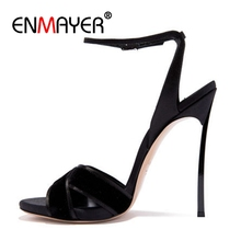 ENMAYER  Casual Basic Shoes Woman Platform High Super Women Sandals Sandalia Feminina Size 34-43 ZYL2480