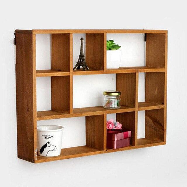 hanging wood shelf 3 layers wooden storage box desktop. Black Bedroom Furniture Sets. Home Design Ideas