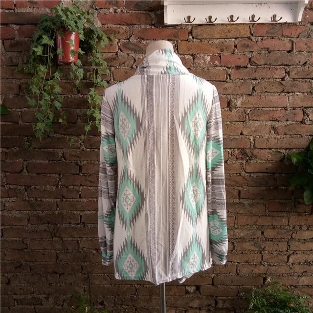 Fashion winter Kimono Knitted Cardigan Long Sleeve Poncho Sweaters Print irregular sexy lady warm Jackets Cardigan Women Tops 8