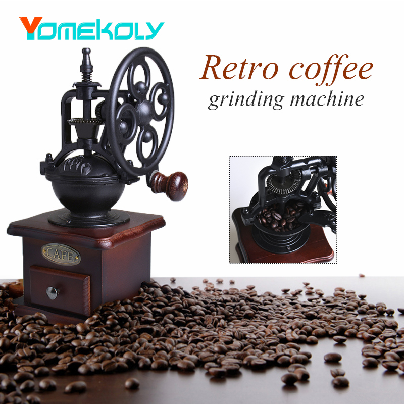Manual Coffee Grinder Ferris Wheel Vintage Ceramic Movement Retro Wooden Mill Coffee Bean Grinding Machinen For Home Decoration big rocking wheel manual grinder machine hand coffee bean grinder home grinder