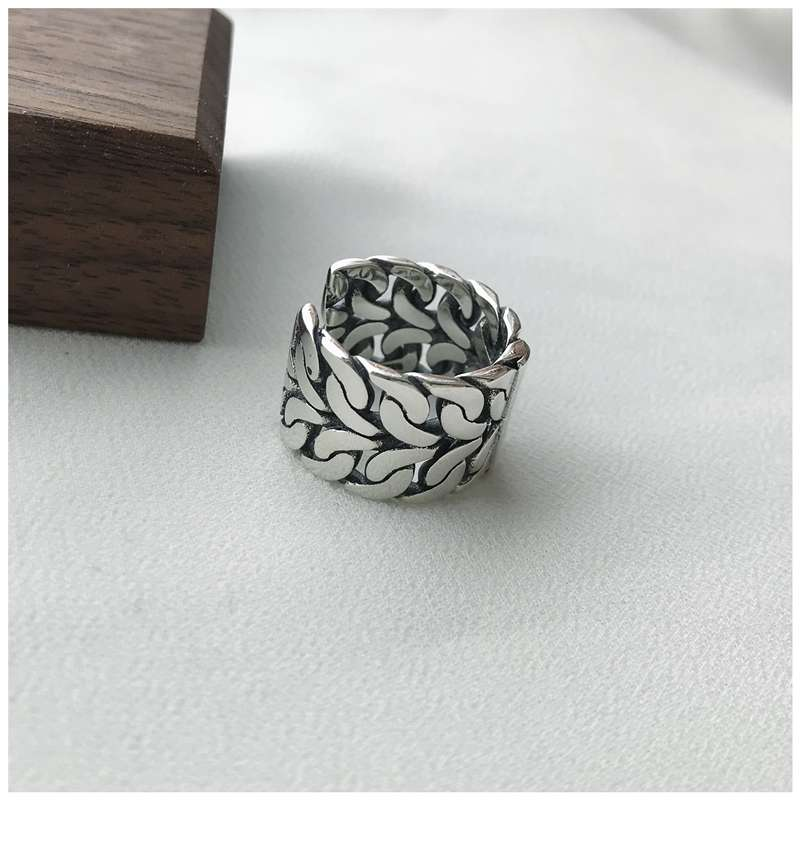 Retro Vintage Silver Color Big Rings for Women Engagement Jewelry Adjustable Finger Rings Anillos 2019 3