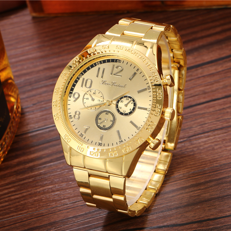 gold silver watch women quartz watches Casual fashion business watches luxury men and women brand gift