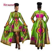 Hitarget 2018 африканские платья для женское Дашики печати воска хлопка батик сексуальное длинное платье для Femal традиционная одежда WY1268