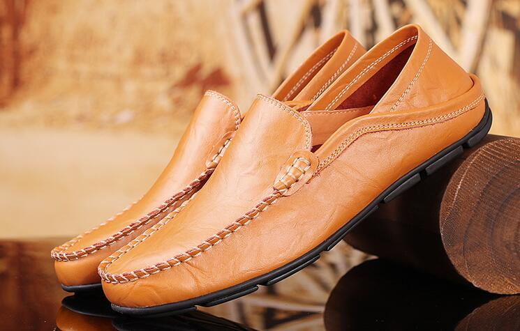 Brand New Fashion Summer Spring Men Driving Shoes Loafers Real Leather Boat Shoes Breathable Male Casual Flats Loafers shoes 2016 new style summer casual men shoes top brand fashion breathable flats nice leather soft shoes for men hot selling driving