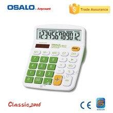OSALO OS-837V Красочный Электронный Калькулятор с Большими Кнопками Круп Дисплей Компьютера Двойной Солнечной Энергии Рабочего Ручной Расчета