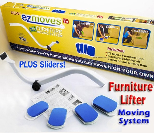 Merveilleux EZ MOVES Furniture Lifter Mover With Sliders Kit Home Moving System AS SEEN  ON TV