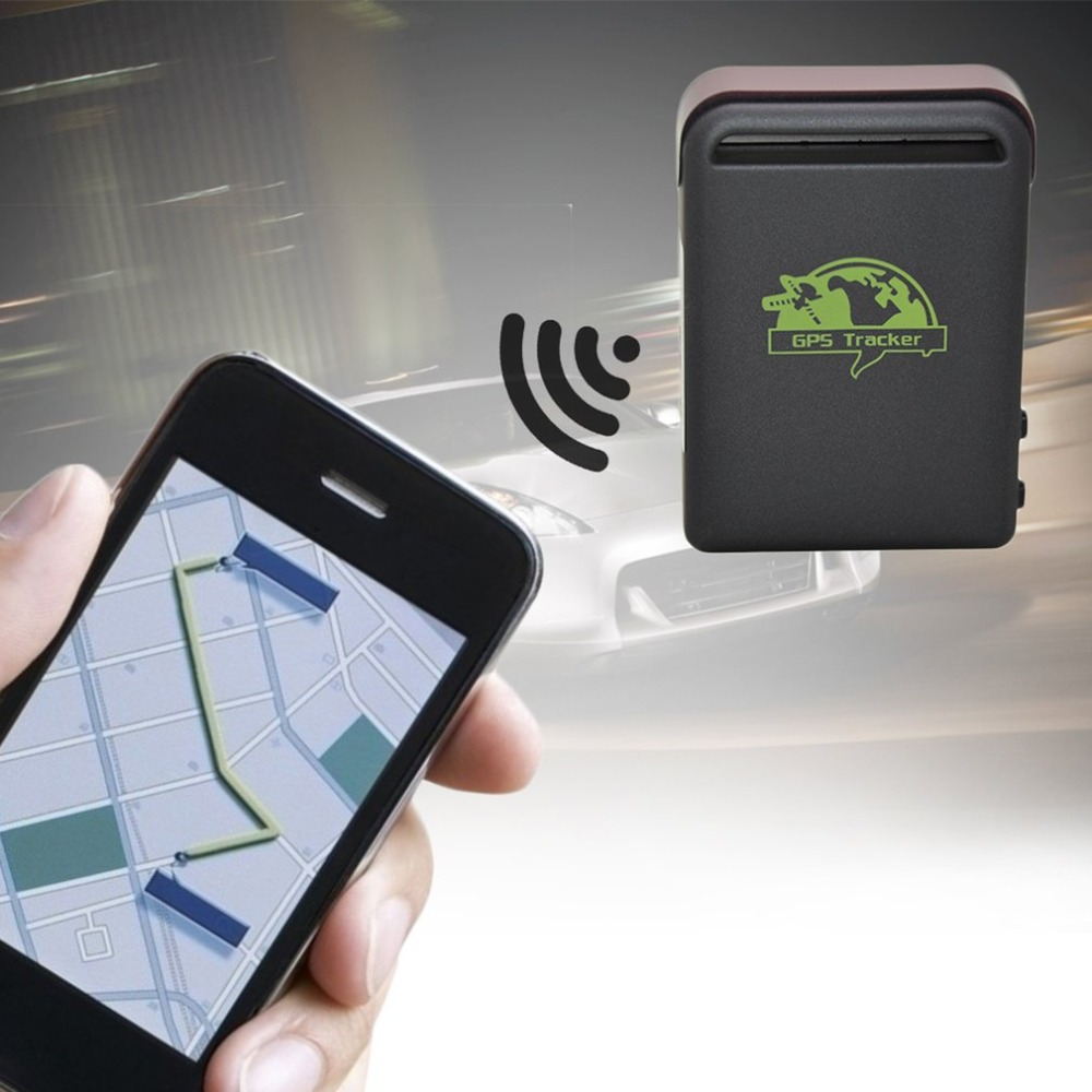 Mini Size GPS Vehicles Cars Tracker Device GPS SMS GPRS SOS For IOS App W/ Remote Control Built-In Shock Sensor