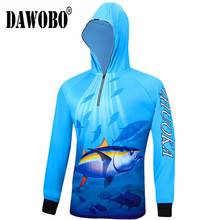 2019 New arrival Outdoor sport fishing clothes breathable quick dry Anti Sai UV mosquit  long sleeve hooded Shirts