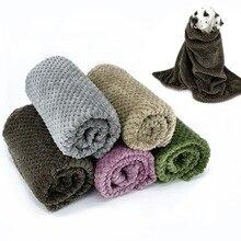 Супер удобное одеяло для собак, одеяло для домашних животных, бархатное плюшевое Флисовое одеяло разных цветов и размеров для маленьких, средних и больших собак