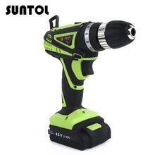 SUNTOL 12V Cordless Drill font b Screwdriver b font Lithium Battery Electric Rechargeable font b Screwdriver
