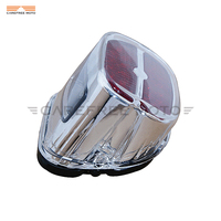 Chrome LED Motorcycle Taillight Brake Light Case For Harley Touring Street Road Glide FXDL FXST FXSTS