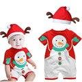 Детские Стиль 100% Хлопок Короткий Рукав Детский Комбинезон Классический Рисунок Рождество Baby Boy Девушка Одежда Малышей Комбинезоны Для Детей HB073