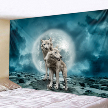 цены на Cosmic Wolf Holy Animals Tapestry Decoration Wall Hanging Lion Wolf Tiger Pattern Background Wall Tapestry Home Textile  в интернет-магазинах