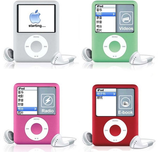 16GB Mini Player 1.8 inch LCD Screen MP3 MP4 Music Player Metal Housing MP4 Player Support E-Book Reading FM Radio
