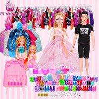 UCanaan Doll Fashionista Ultimate Dressup Toys Set Fashion Princess Boy Ken Dolls Accessories for barbie
